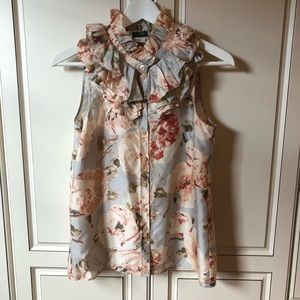 J. Crew Floral Print Ruffle Top